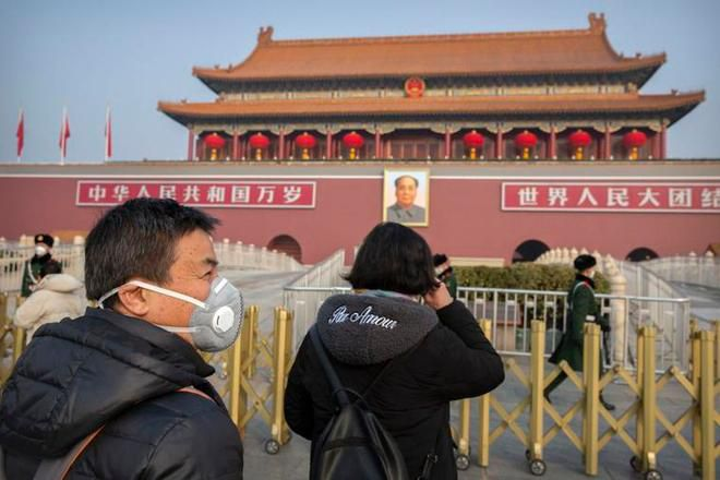 Đường phố trung tâm tài chính Bắc Kinh hoang lạnh vì dịch virus corona Ảnh 4