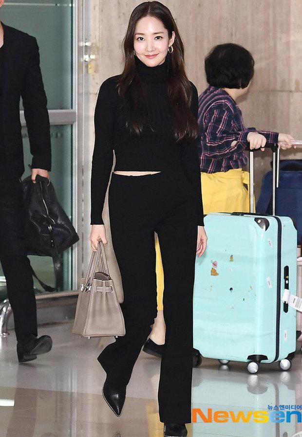'Mỹ nhân dao kéo' Park Min Young liên tục biến sân bay thành sàn diễn thời trang Ảnh 4