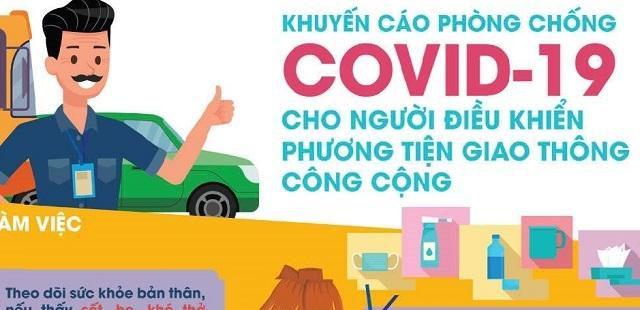 Khuyến cáo phòng chống Covid-19 cho người điều khiển phương tiện giao thông Ảnh 1