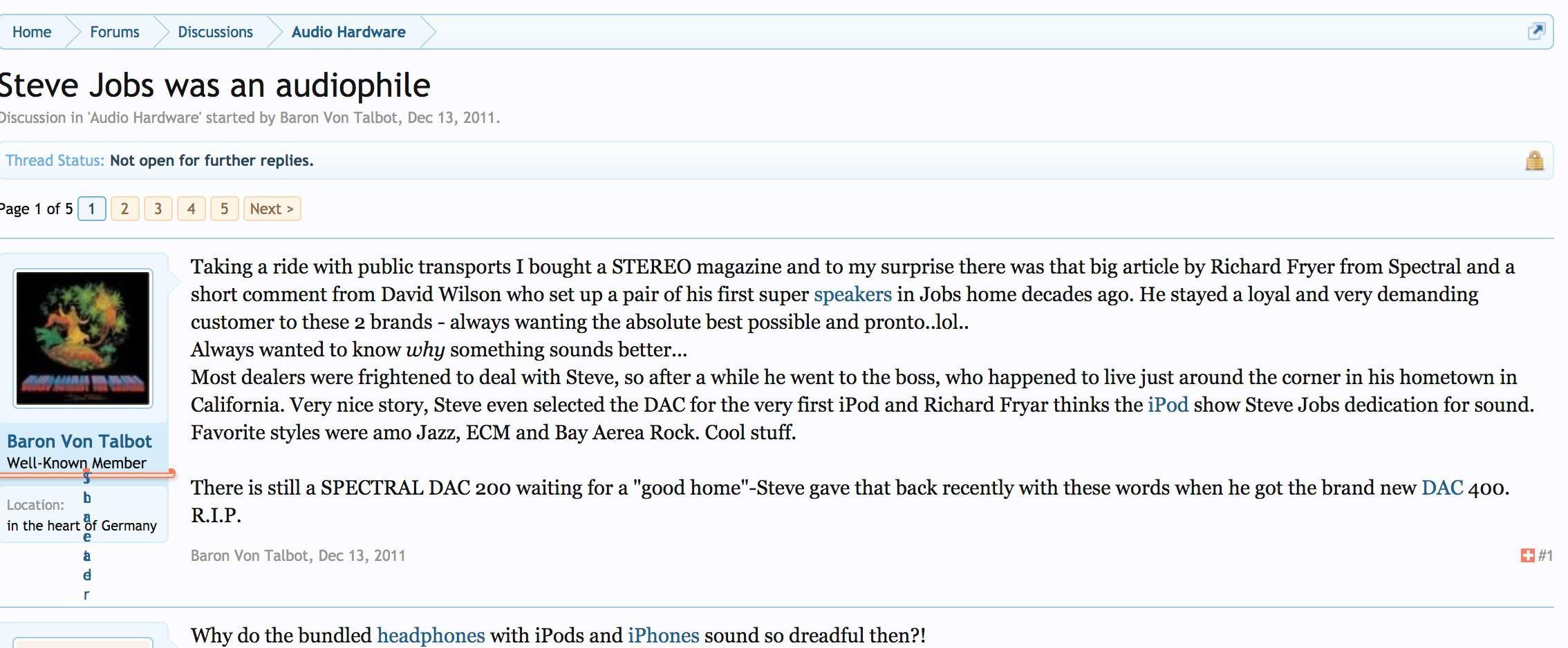 Steve Jobs - 29 năm đam mê vinyl cùng bộ dàn hi-end cầu kỳ, chỉ tin vào 'Class A' Ảnh 2