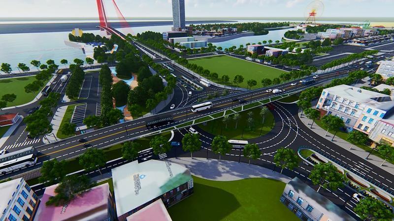Phân luồng để cải tạo nút giao thông cầu Trần Thị Lý Ảnh 2