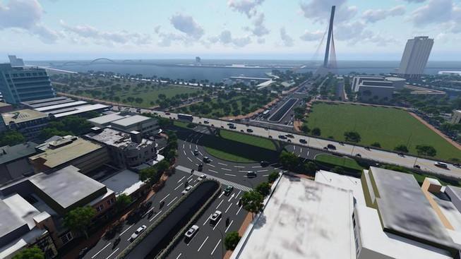 Phân luồng để cải tạo nút giao thông cầu Trần Thị Lý Ảnh 1