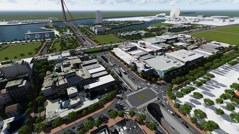 Phân luồng để cải tạo nút giao thông cầu Trần Thị Lý Ảnh 3