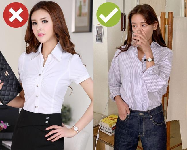 Còn chứa chấp 4 kiểu áo sơ mi/blouse sau thì bạn còn mặc xấu, tất cả nên được dọn bớt cho đỡ chật tủ áo quần Ảnh 4