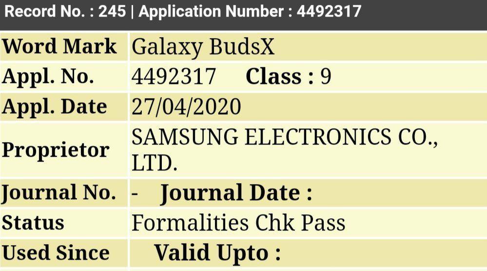 Tai nghe hình hạt đậu của Samsung sẽ có tên gọi chính thức là Galaxy BudsX Ảnh 1