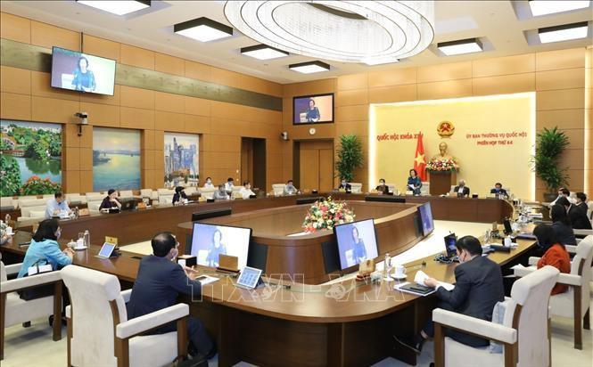 Phiên họp thứ 45 của Ủy ban Thường vụ Quốc hội diễn ra trong 3 ngày Ảnh 1
