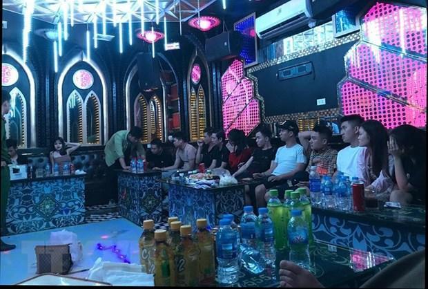 Nam Định: 13 đối tượng tụ tập, sử dụng ma túy trong quán karaoke Ảnh 1