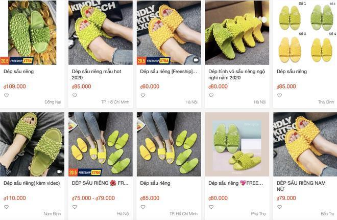 Dép sầu riêng được bán nhiều trên mạng với giá từ 55.000 đồng Ảnh 3