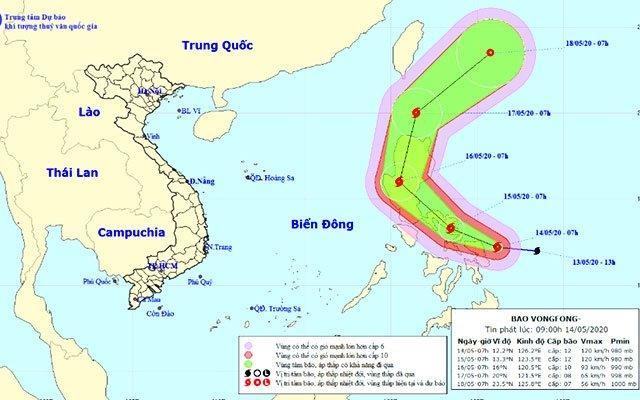 Bão giật cấp 14 tiến sát bờ biển miền trung Philippines Ảnh 1