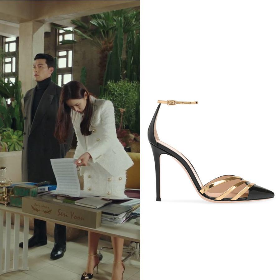 Cứ xem phim Hàn là kiểu gì chị em cũng bắt gặp mẫu giày cao gót 'chanh sả' mà siêu hack dáng này Ảnh 4