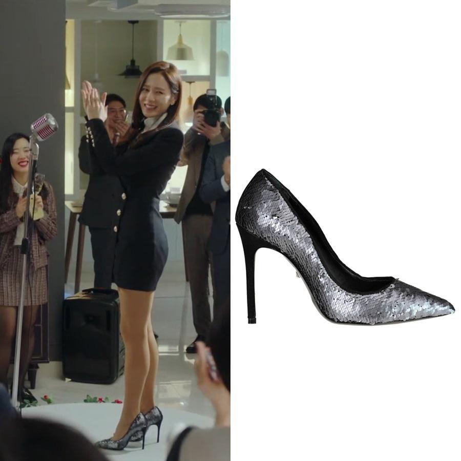 Cứ xem phim Hàn là kiểu gì chị em cũng bắt gặp mẫu giày cao gót 'chanh sả' mà siêu hack dáng này Ảnh 2