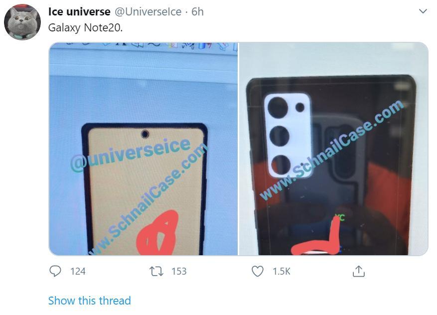 Hình ảnh rò rỉ đầu tiên về Galaxy Note 20 từ nguồn đáng tin cậy Ảnh 3