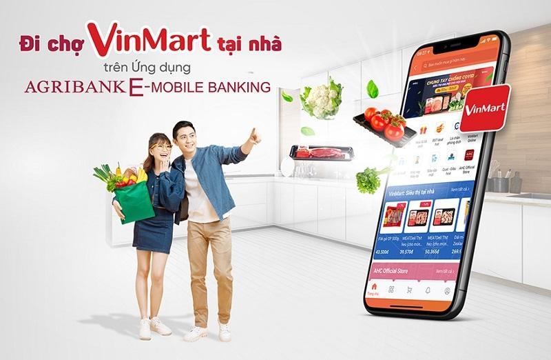'Đi chợ VinMart Online' ngay trên ứng dụng Agribank E-Mobile Banking Ảnh 1