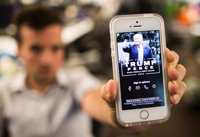 Chiến dịch tranh cử của Tổng thống Trump dùng ứng dụng thay thế mạng xã hội Ảnh 1