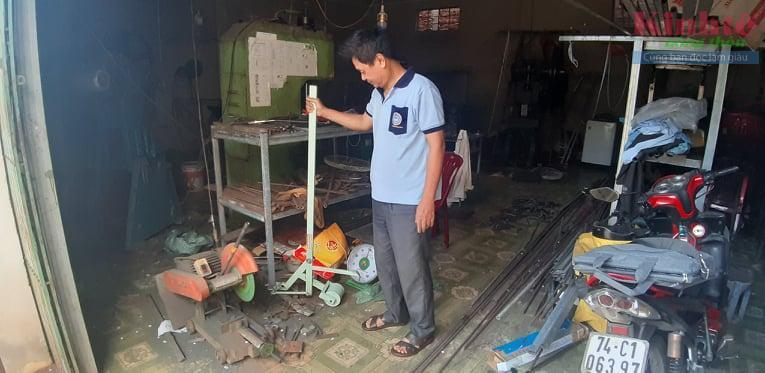 Quảng Trị: Thợ cơ khí tự mày mò sáng chế máy nhổ sắn Ảnh 2
