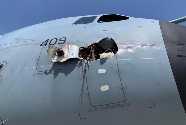 Máy bay vận tải quân sự tầm xa của Anh và Tây Ban Nha vỡ toác sau va chạm với... chim Ảnh 1