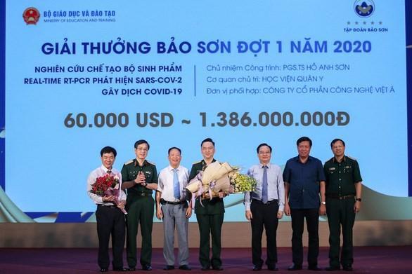 Giải thưởng đặc biệt trị giá 1,3 tỷ đồng cho bộ test Covid-19 Ảnh 1