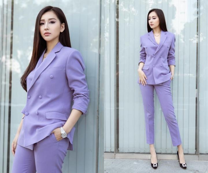 Mai Phương Thúy, Khánh Vân mặc vest thanh lịch Ảnh 1