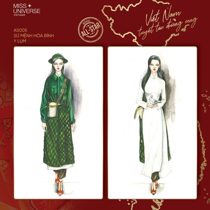 Độc đáo thiết kế trang phục dân tộc cho Khánh Vân thi 'Hoa hậu Hoàn vũ 2020' Ảnh 3