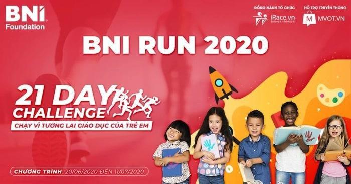 Khởi động giải chạy trực tuyến BNI RUN 2020 nhằm ủng hộ giáo dục trẻ em Ảnh 1