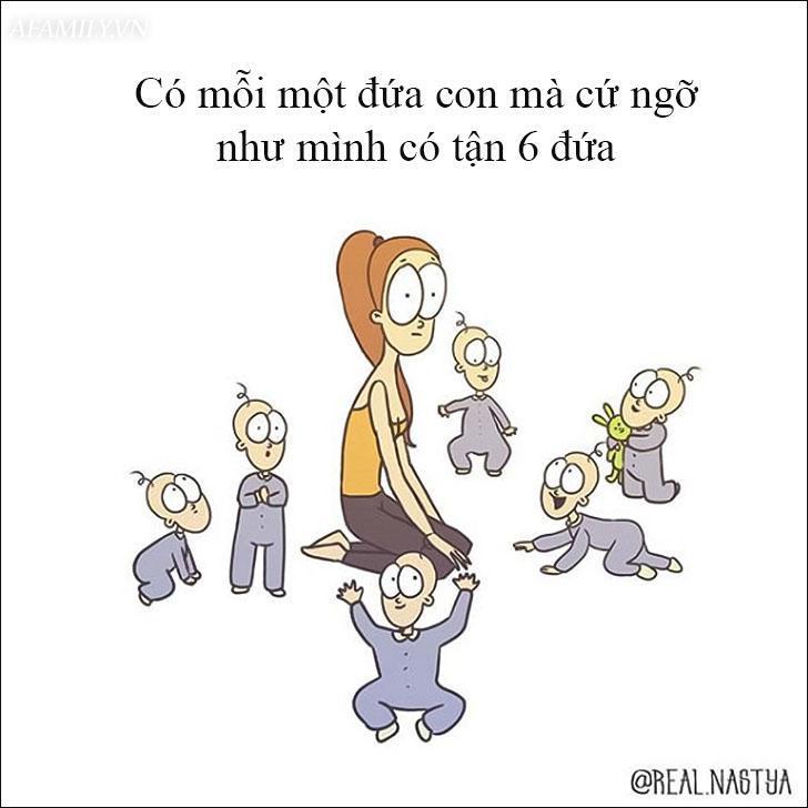 Cười 'té ghế' với bộ tranh hài hước miêu tả nghề làm mẹ thật đến từng centimet Ảnh 4