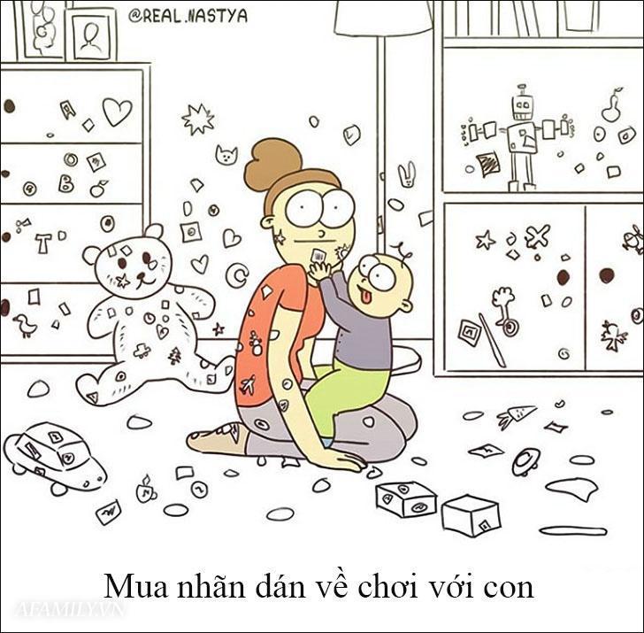 Cười 'té ghế' với bộ tranh hài hước miêu tả nghề làm mẹ thật đến từng centimet Ảnh 5