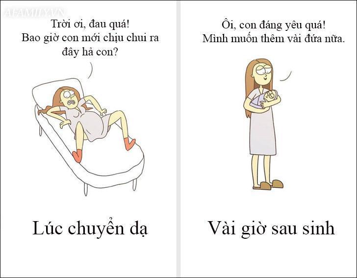 Cười 'té ghế' với bộ tranh hài hước miêu tả nghề làm mẹ thật đến từng centimet Ảnh 1
