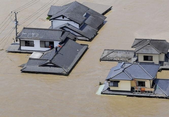 Hàng vạn người Nhật phải sơ tán do mưa lũ Ảnh 1