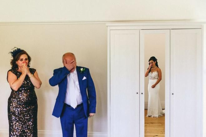Cha lặng lẽ, bật khóc trong đám cưới con gái Ảnh 7