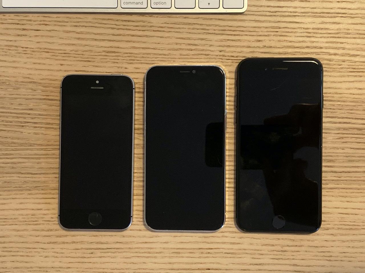 iPhone 12 5.4 inch lần đầu lộ diện, 'khoe dáng' cực ngầu bên iPhone SE và iPhone 7 Ảnh 2