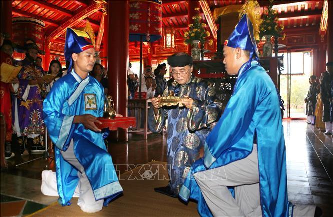 Lễ rước Long vị vua Hàm Nghi về Di tích Quốc gia Thành Tân Sở Ảnh 4