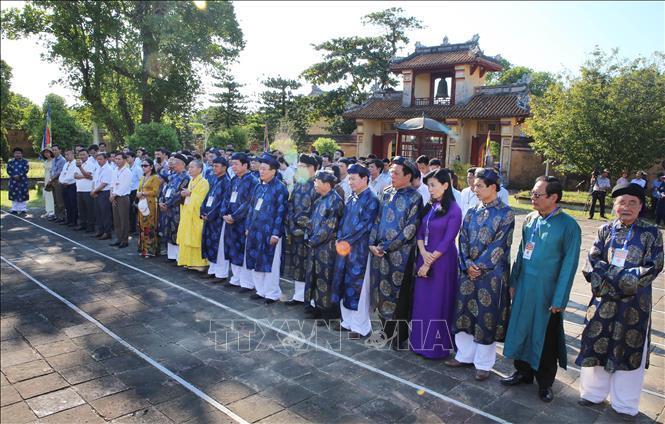 Lễ rước Long vị vua Hàm Nghi về Di tích Quốc gia Thành Tân Sở Ảnh 5