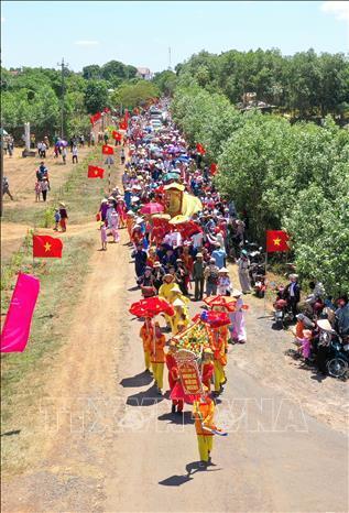 Lễ rước Long vị vua Hàm Nghi về Di tích Quốc gia Thành Tân Sở Ảnh 1