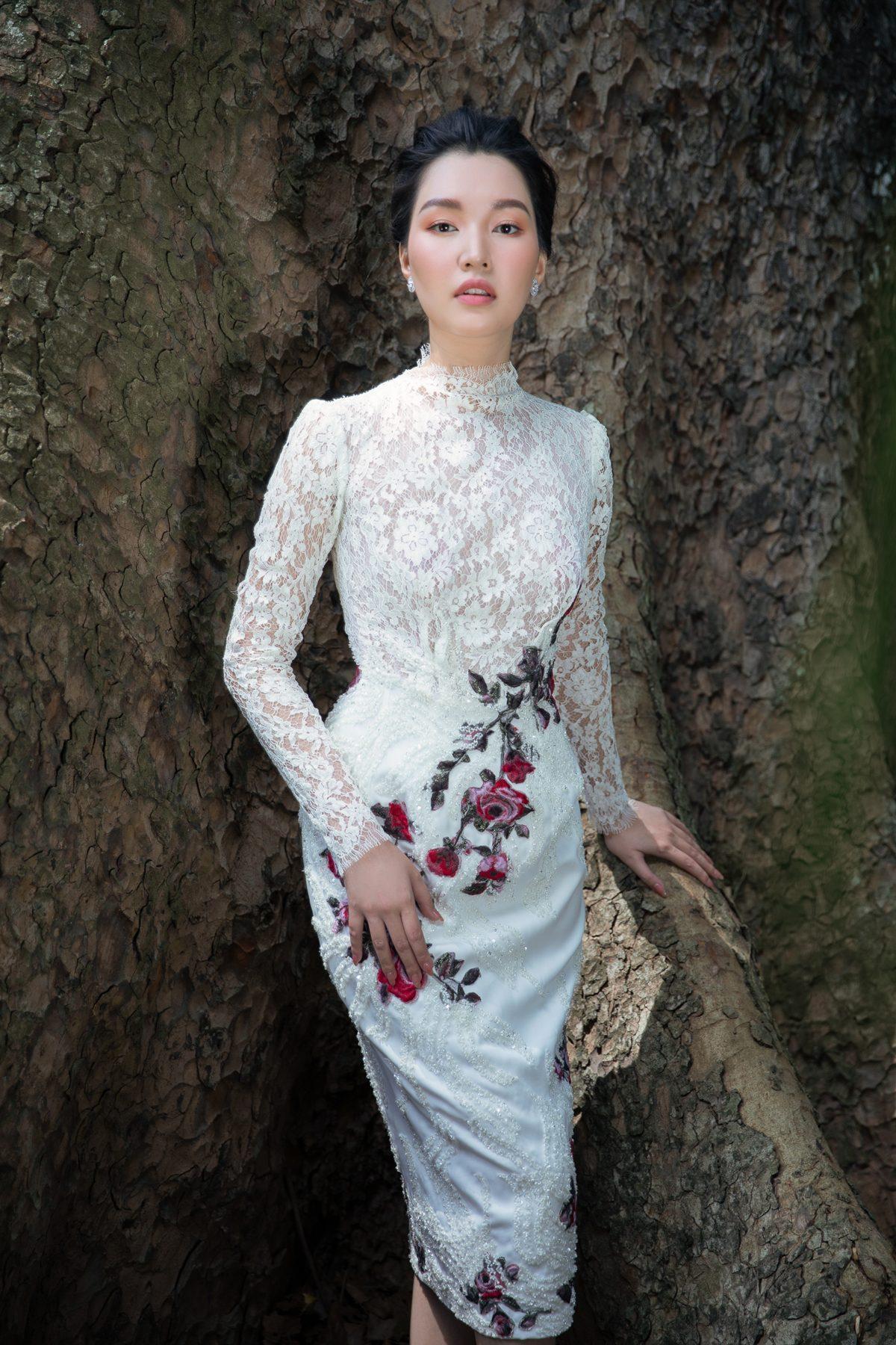 'Nàng thơ xứ Huế' Ngọc Trân cuốn hút với nét mơ màng trong loạt váy áo e ấp Ảnh 18