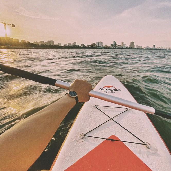 Hà Nội: Chèo thuyền SUP Hồ Tây không mới nhưng lạ, bạn đã thử chưa? Ảnh 2