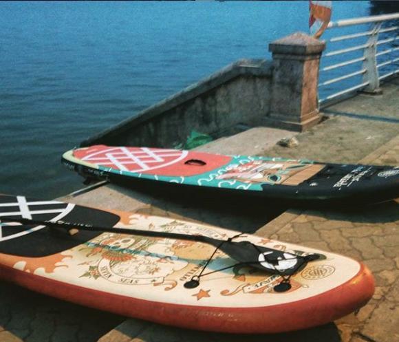 Hà Nội: Chèo thuyền SUP Hồ Tây không mới nhưng lạ, bạn đã thử chưa? Ảnh 1