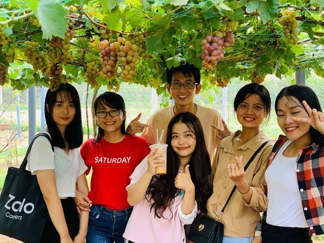 Vườn nho siêu trái ở miền Tây mở cửa miễn phí, giới trẻ thích thú đến check-in Ảnh 4