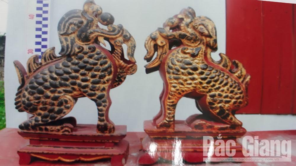 Bắc Giang: Đôi nghê - linh vật quý hiếm ở đình Quyền Ảnh 1