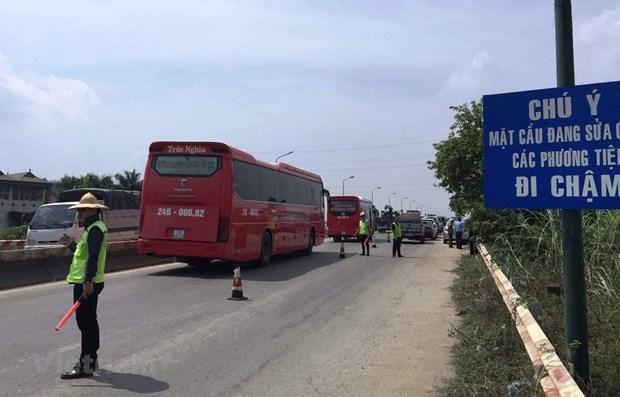 Cấm các xe lưu thông trên tầng 2 mặt cầu Thăng Long từ ngày 8/8 Ảnh 1