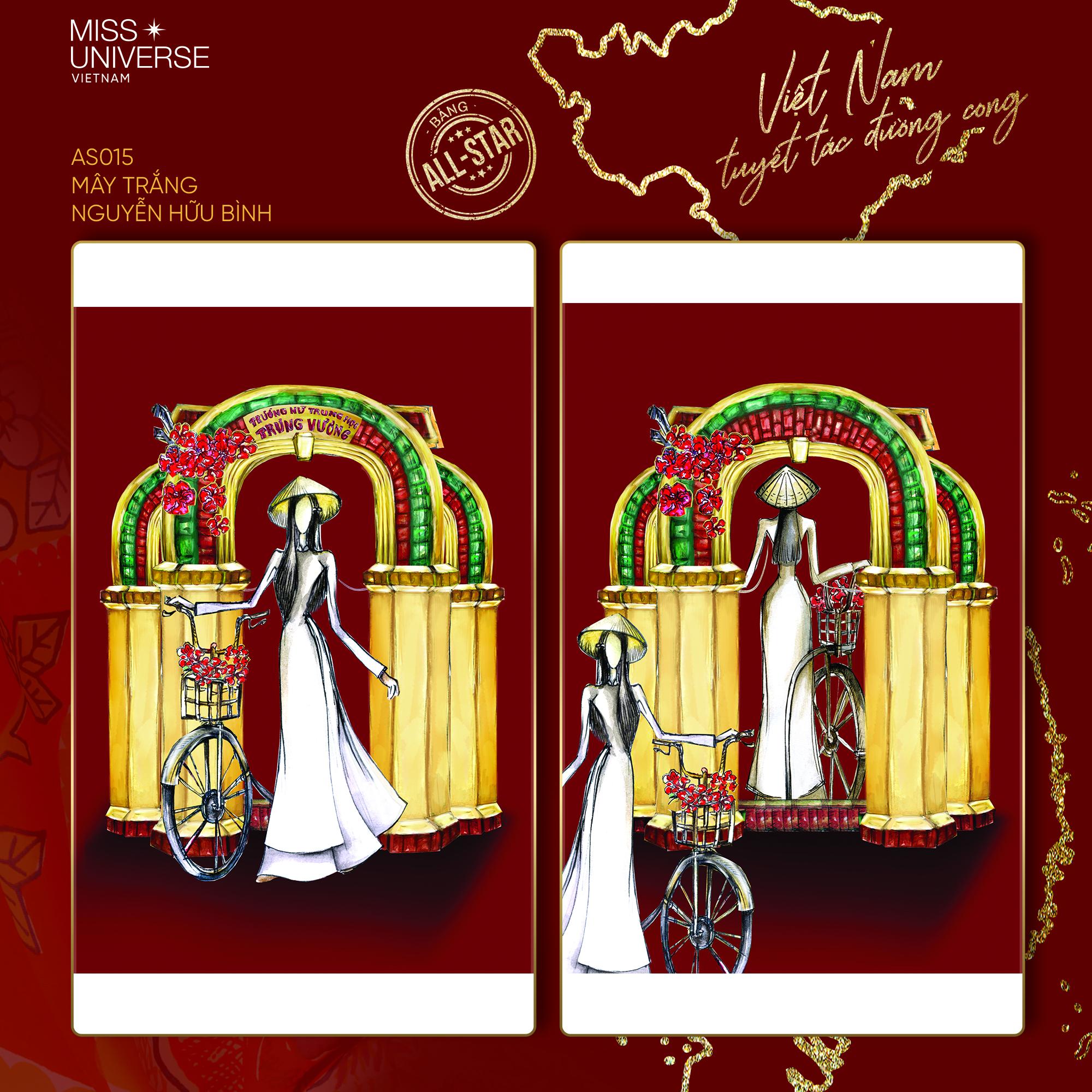 Chủ nhân National Costume Nàng Mây thiết kế váy tàu điện Metro cho Khánh Vân: Cổng trường cũng thành trang phục cực chất Ảnh 16