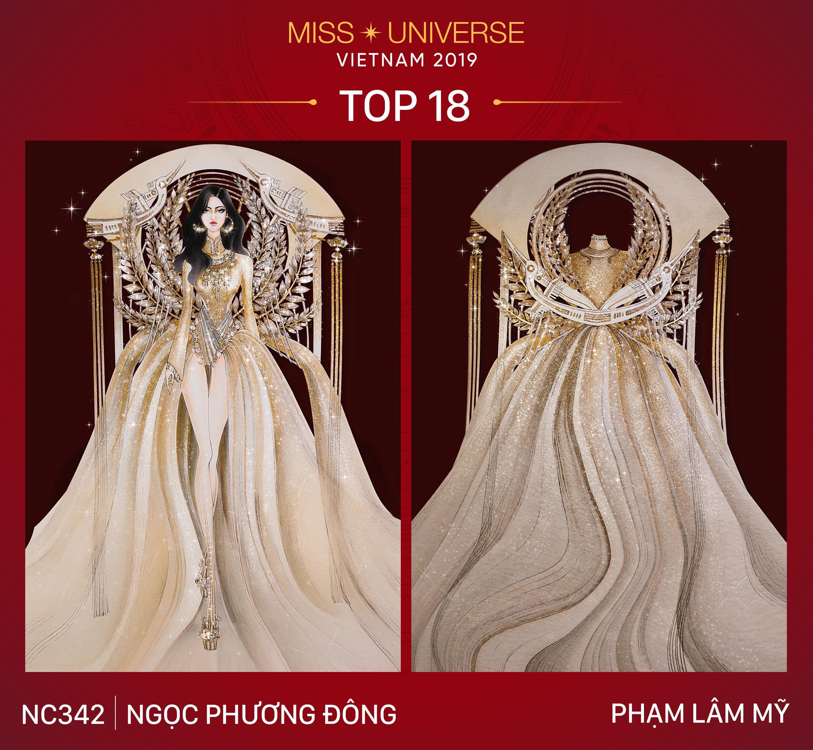 Chủ nhân National Costume Nàng Mây thiết kế váy tàu điện Metro cho Khánh Vân: Cổng trường cũng thành trang phục cực chất Ảnh 15