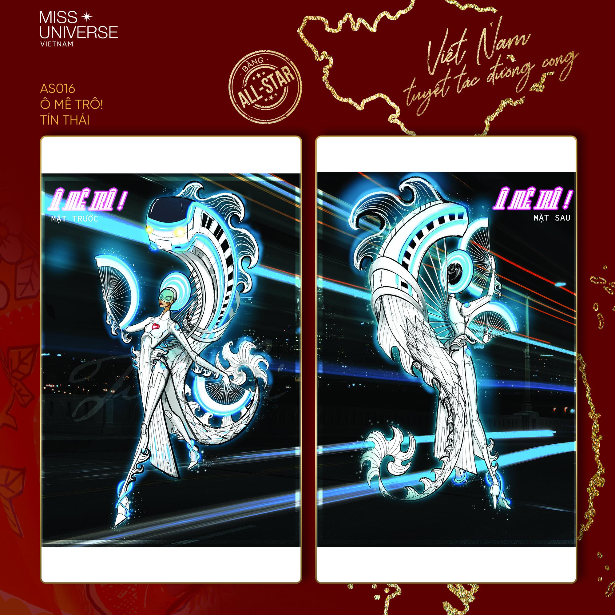 Chủ nhân National Costume Nàng Mây thiết kế váy tàu điện Metro cho Khánh Vân: Cổng trường cũng thành trang phục cực chất Ảnh 18