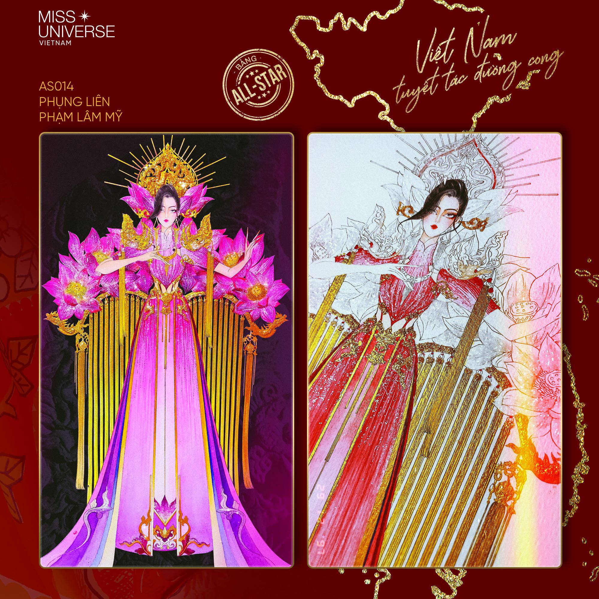 Chủ nhân National Costume Nàng Mây thiết kế váy tàu điện Metro cho Khánh Vân: Cổng trường cũng thành trang phục cực chất Ảnh 14