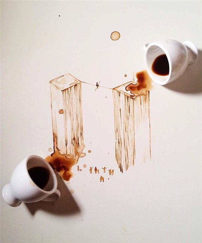 Không thể tin tác phẩm tuyệt đẹp này được vẽ từ trà, cafe đổ Ảnh 9
