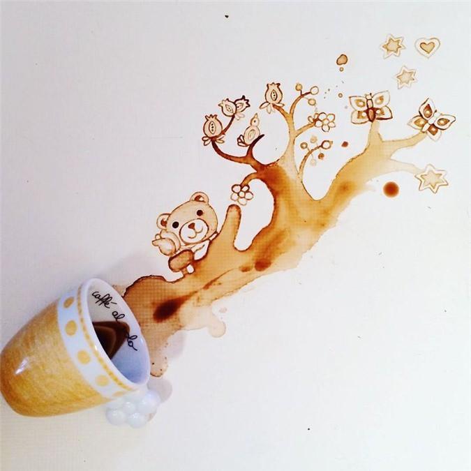 Không thể tin tác phẩm tuyệt đẹp này được vẽ từ trà, cafe đổ Ảnh 15