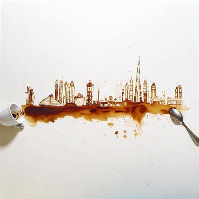 Không thể tin tác phẩm tuyệt đẹp này được vẽ từ trà, cafe đổ Ảnh 4
