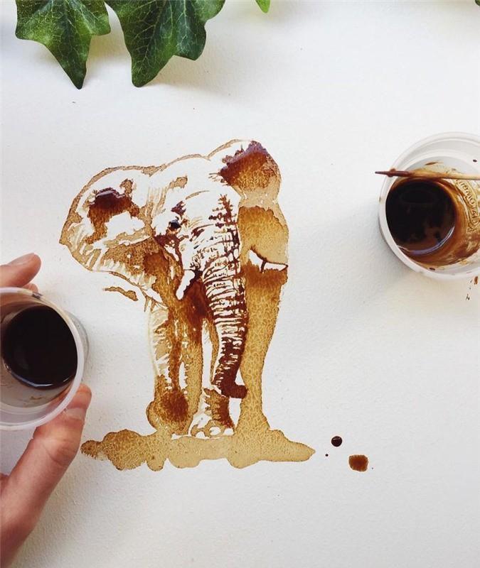 Không thể tin tác phẩm tuyệt đẹp này được vẽ từ trà, cafe đổ Ảnh 5