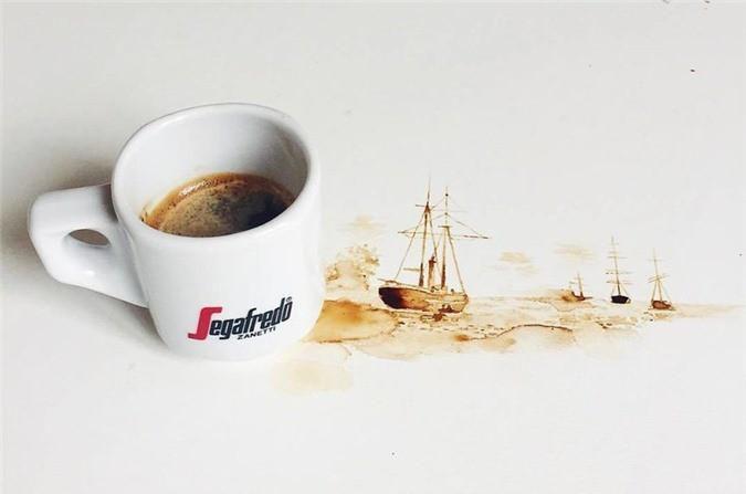 Không thể tin tác phẩm tuyệt đẹp này được vẽ từ trà, cafe đổ Ảnh 13
