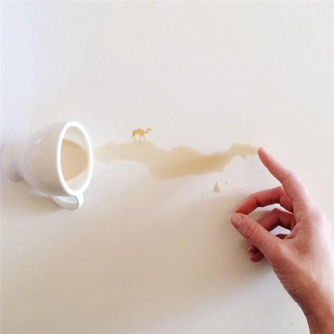 Không thể tin tác phẩm tuyệt đẹp này được vẽ từ trà, cafe đổ Ảnh 12