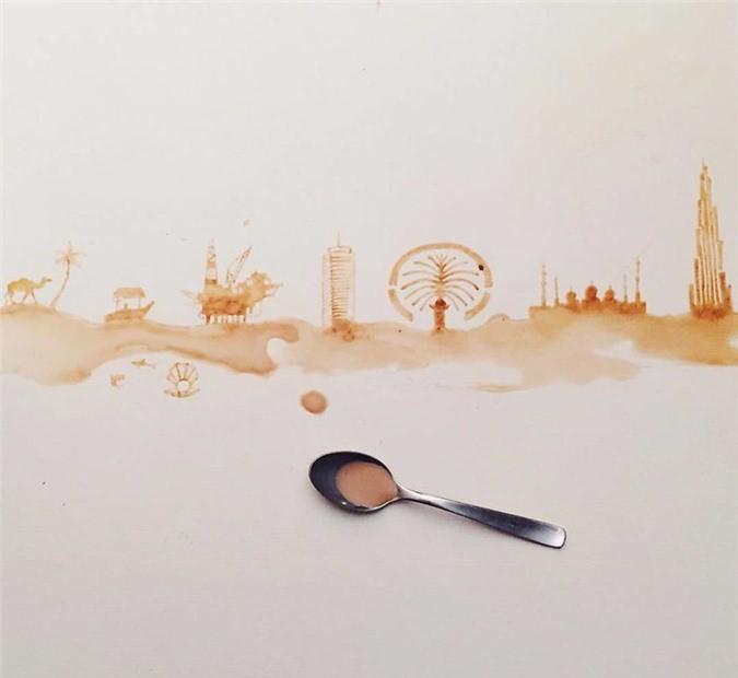 Không thể tin tác phẩm tuyệt đẹp này được vẽ từ trà, cafe đổ Ảnh 19